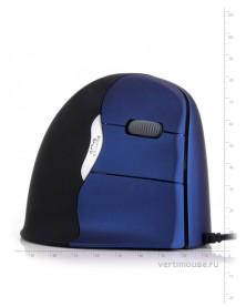 Проводная вертикальная мышь Breathing Light (синяя)